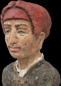 Mann mit roter Kappe  -Detail 1-  2016 09