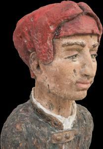 Mann mit roter Kappe  -Detail 2-  2016 09